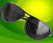 gafas orificios para la vista