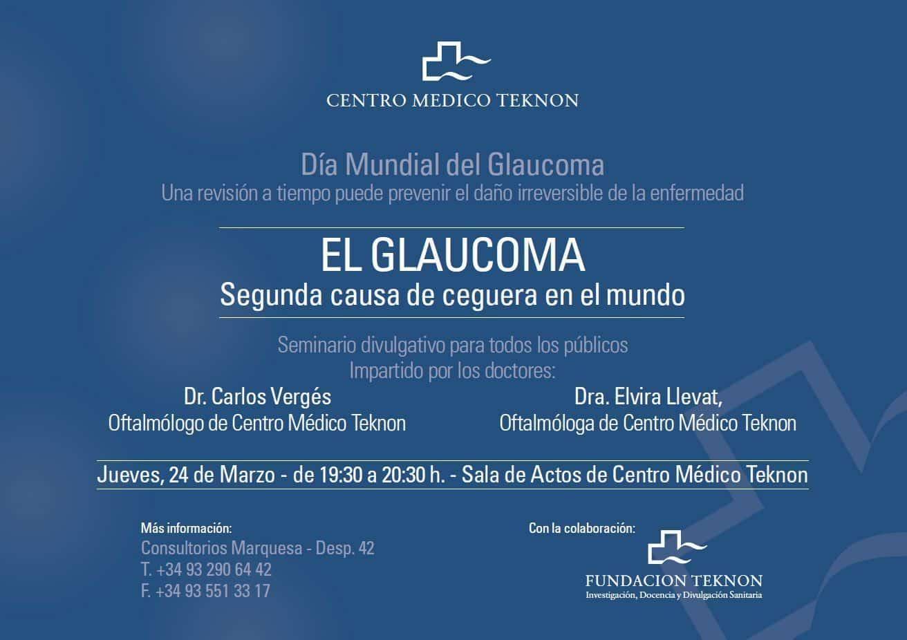 El glaucoma. Segunda causa de ceguera en el mundo