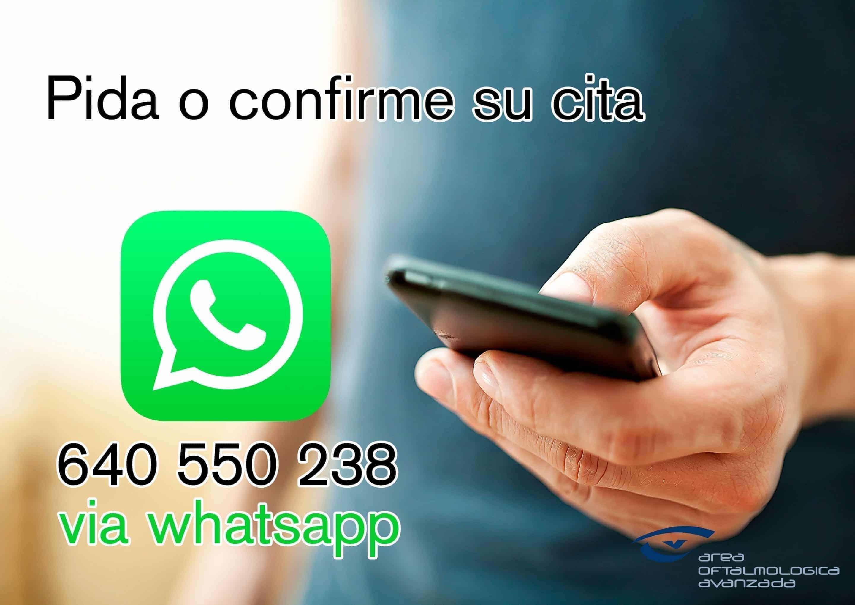 Área Oftalmológica Avanzada abre un nuevo servicio de WhatsApp para pedir consulta