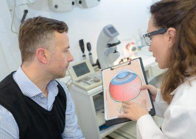 postoperatorio de la operación de glaucoma