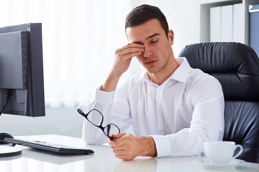 Ojos irritados y vuelta al trabajo